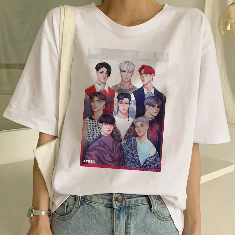 T Shirt Ateez Fan Art