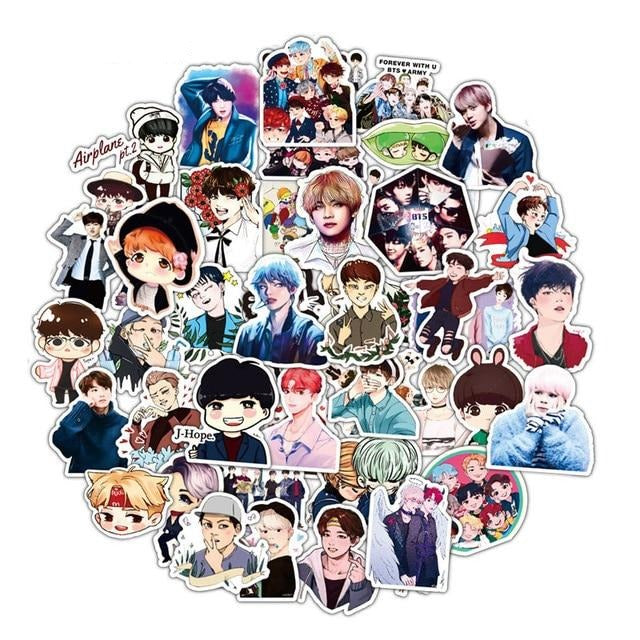 Stickers BTS Dessin 50pc