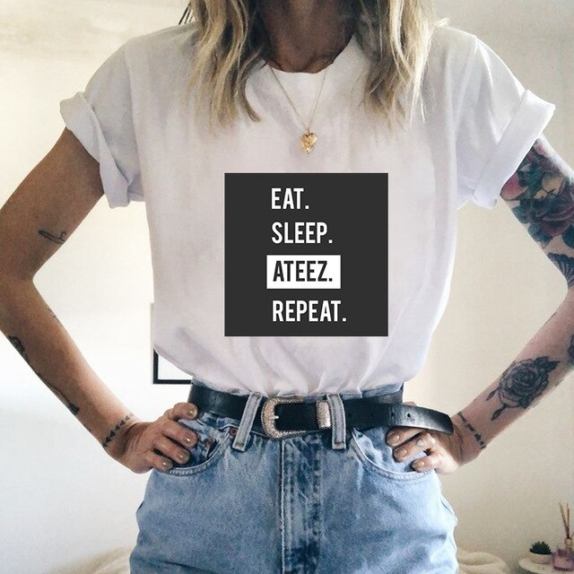 T Shirt Eat Sleep Ateez