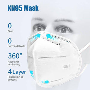5 Pack Disposable Ear Loop KN95 Face Mask