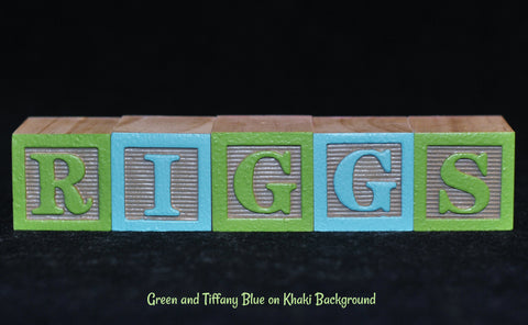 Baby Name or Phrase -  5 Wooden Alphabet Blocks