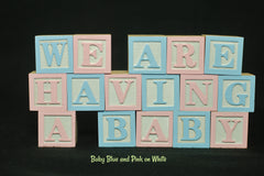 Baby Name or Phrase - 25 Wooden Alphabet Blocks