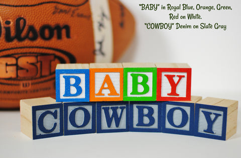 Fan Favorite Sports Teams - 8 Wooden Alphabet Blocks