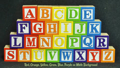 Full Set A - Z of Wooden Alphabet Blocks