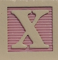 Pink on Rose - Wooden Alphabet Blocks