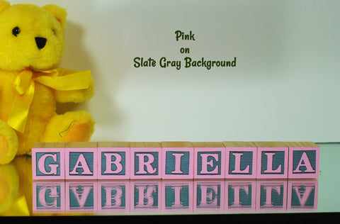 Baby Name or Phrase - 9 Wooden Alphabet Blocks