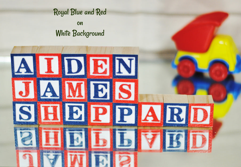 Baby Name or Phrase - 18 Wooden Alphabet Block
