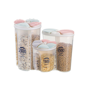 Plastic Cereal Dispenser Storage Box Kitchen Food Grain Rice Container Nice Kitchen Rice Storage Box Flour Grain Storage#5$
