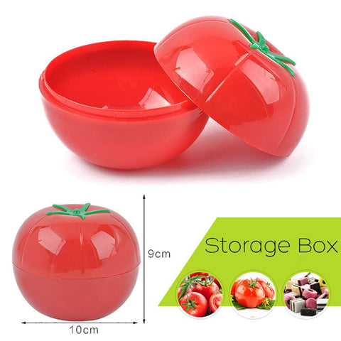 1pc Kitchen Food Crisper Vegetable Container Onion Box Onion Garlic Avocado Tomatoes Lemon Green Pepper Fresh Storage Box