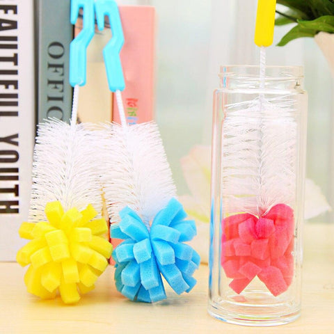 2018 Cleaning Brushes 1 PC Kitchen Cleaning Tool Sponge Brush For Wineglass Bottle Coffe Tea Glass Cup Kichen Accessories 2019