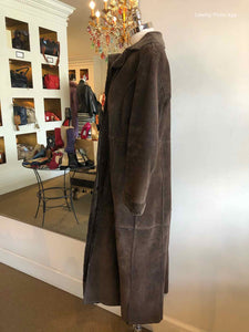 WINLIT Brown Shearling Coat | L - Labels Luxury
