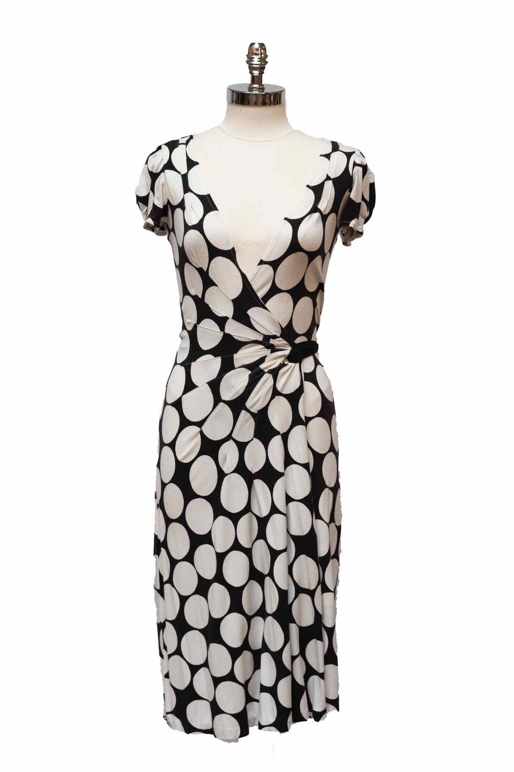 DIANE VON FURSTENBERG Polka Dot Wrap Dress | 2 - Labels Luxury