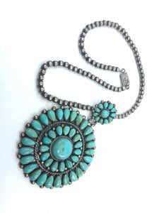 MEXICO 1950's Navajo Turquoise Necklace - Labels Luxury