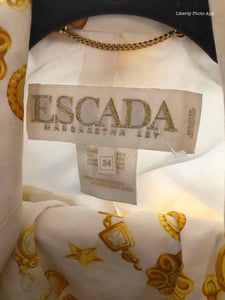 ESCADA Star Printed Skirt Suit | S - Labels Luxury