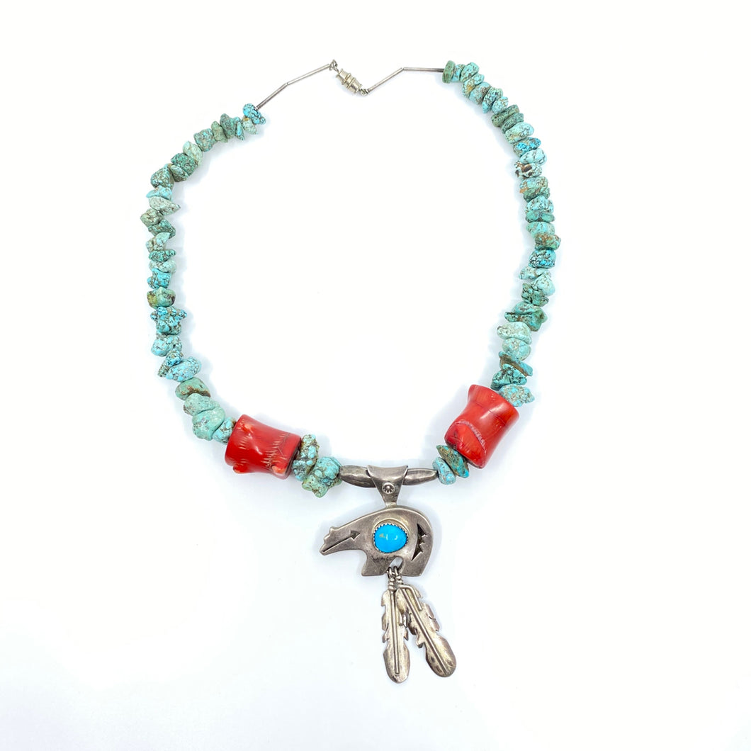 NAVAJO Turquoise Necklace - Labels Luxury