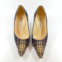 Load image into Gallery viewer, MANOLO BLAHNIK Plaid Pumps | 8.5 - Labels Luxury