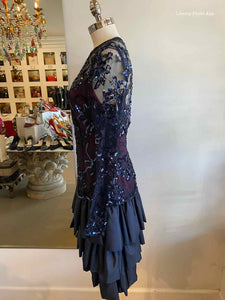 CHRISTIAN DIOR Lace Sequined Gown | M - Labels Luxury