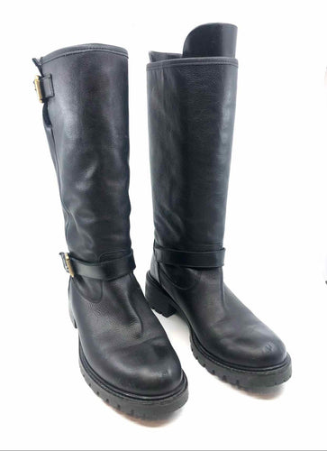 FENDI Black Leather Tall Boots | 9.5 - Labels Luxury