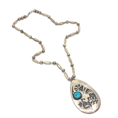 J BEGAY Turquoise Necklace - Labels Luxury