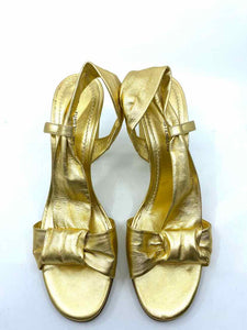 DIANE VON FURSTENBERG Gold Sandals | 9.5 - Labels Luxury