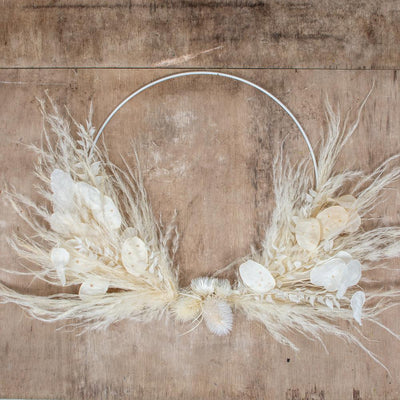 Norfolking Around Wreath 'All White' 35cm
