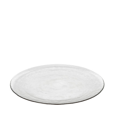 Broste Copenhagen Large 'Hammered' Glass Plate