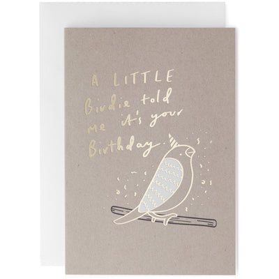 Old English Company Birthday Birdie Greeting Card
