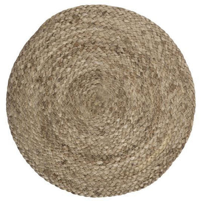 Norfolking Around Placemat round - Dark natural jute