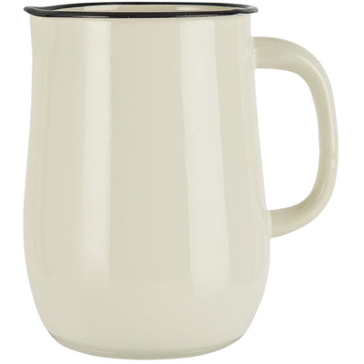 Norfolking Around Enamel Pitcher - Butter Cream