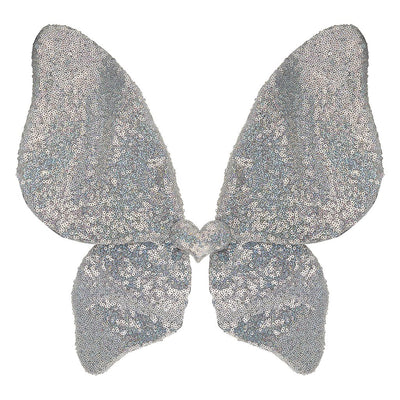 Mimi and Lula Sparkle Sequin Wings - Silver