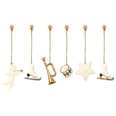 Maileg Metal Ornaments - White/Gold