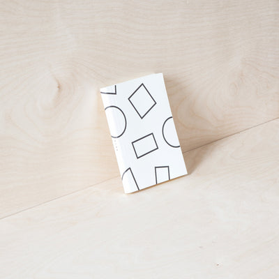 Ola Layflat Weekly Pocket Planner in Black and White Shapes