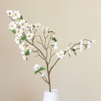 Luxury artificial white dogwood flower
