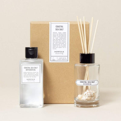 Norfolk Natural Living Coastal Diffuser Oil Set - Salty Sea Air