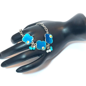 Bracelet. Handmade Bracelet. Unique gift for MOM, Girlfriend and Sister. Unique bracelet for her. Protective eye bracelet. Turquoise charms