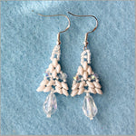 Earrings. Upscale designer earrings.Super Due beads and sparkling crystals. Bridal party jewelry