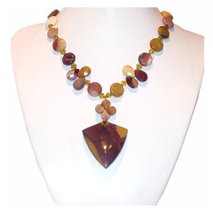 Hand Made Show stopper Celebrity Necklace - Original designer necklace- Mookaite Gemstone Multi-Color Faceted. the wonderful gemstone