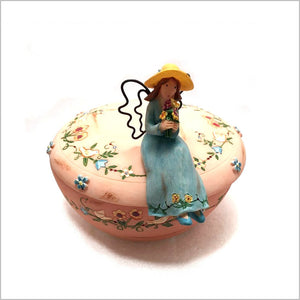 "Trinket Jewelry box. ""Fallow Your Heart"" Beautiful detailed hand painted box."