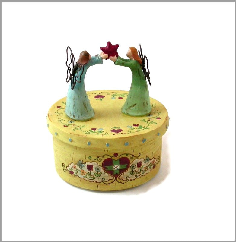 "Trinket Jewelry box. ""Friends for ever"" Beautiful detailed box"
