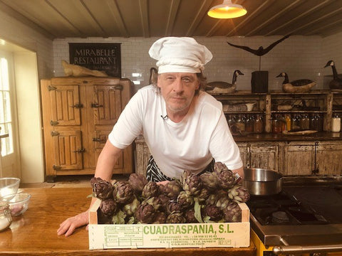 Marco Pierre White with Heritage artichokes