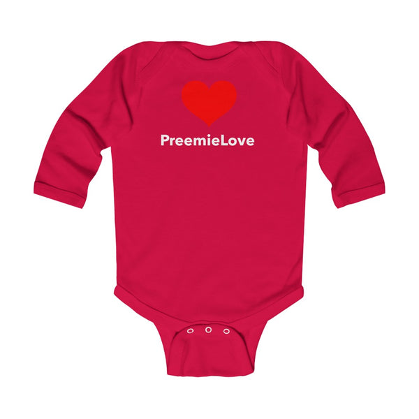 PreemieLove Infant Long Sleeve Bodysuit