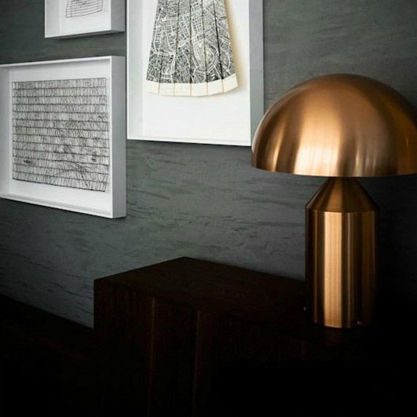 atollo metal table lamp gold