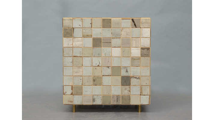 waste tile cube cabinet no.12