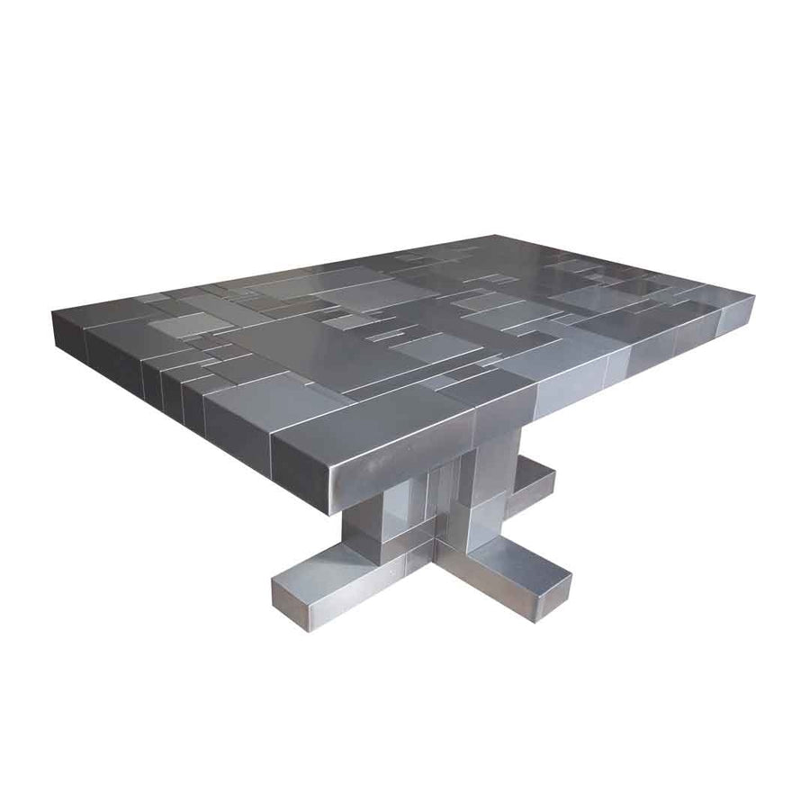 waste table in steel