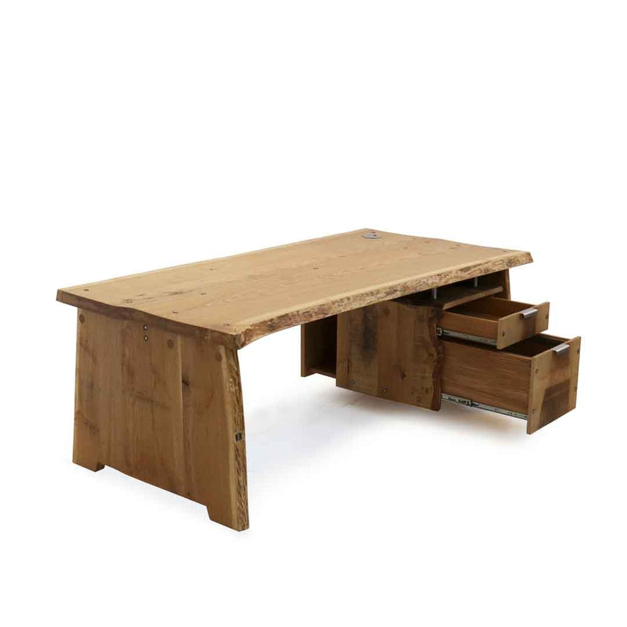 tree trunk desk table