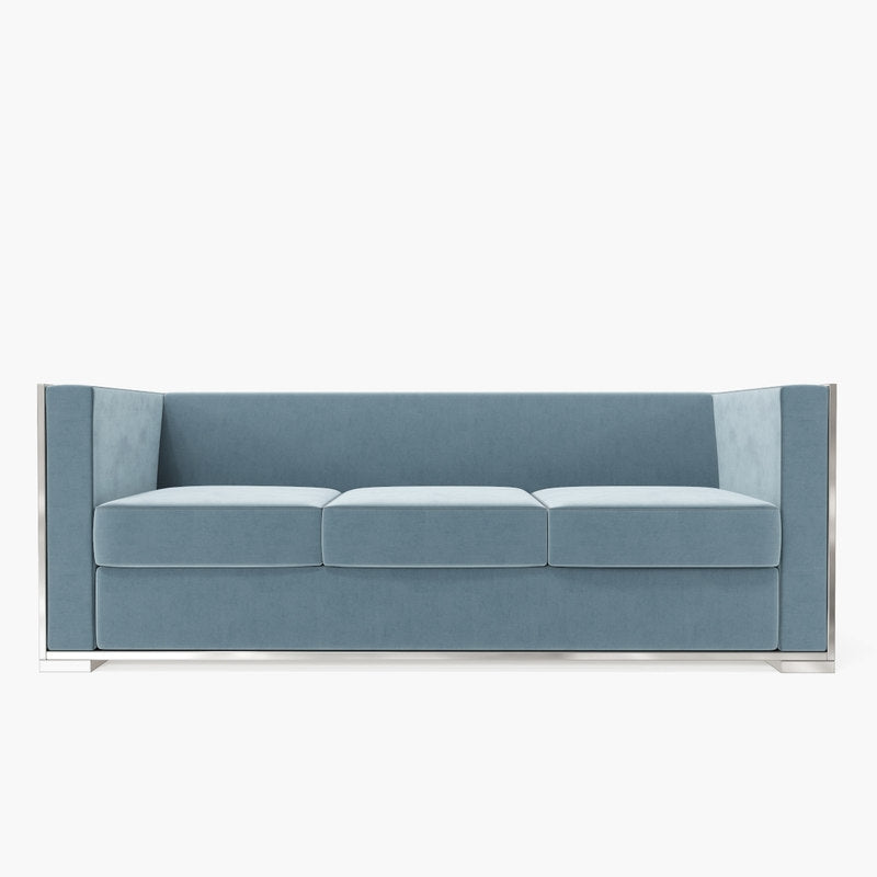 glossy sofa salon blue