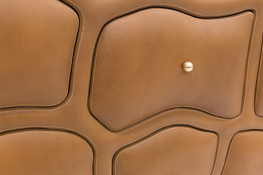 leather cabinet | Brown