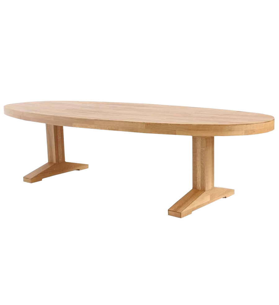 canteen table in oak oval | dining table