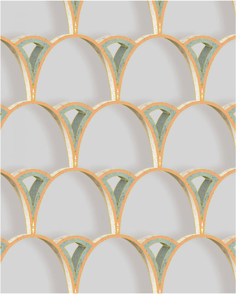 tiber archways | peach with emerald