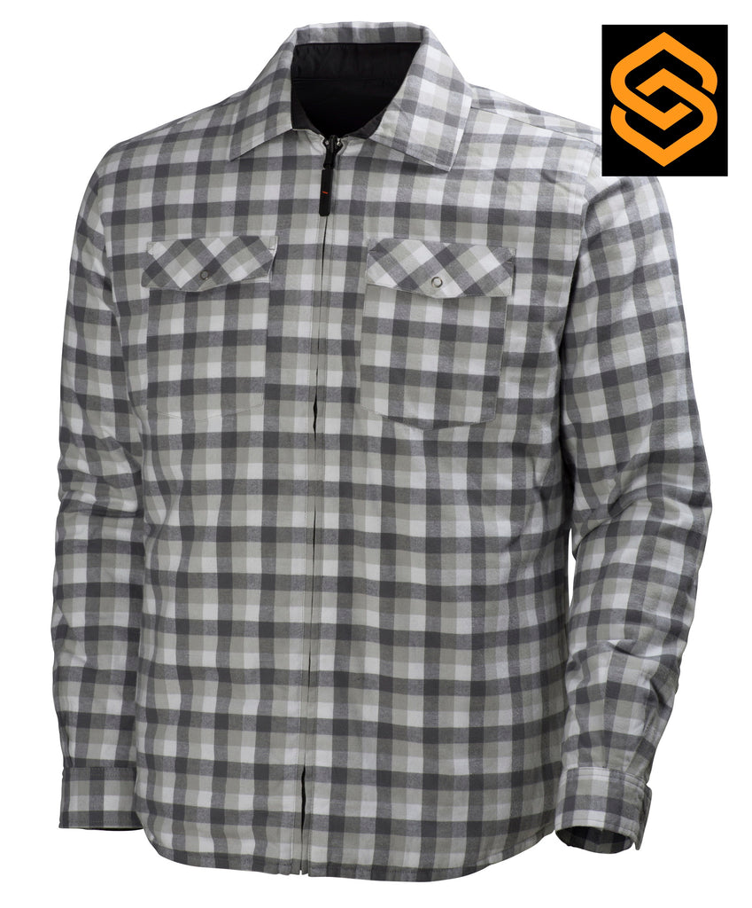 HELLY HANSEN VANCOUVER JACKET CHARCOAL CHECK = WENDEJACKE